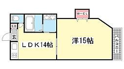 マンション新神戸[25号室]の間取り