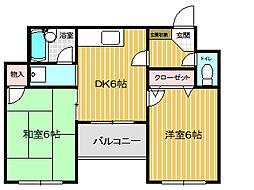 アソテア神戸[3階]の間取り