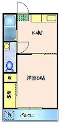 コーポ野口[1階]の間取り