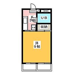 島崎マンション[2階]の間取り