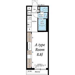 名古屋市営鶴舞線 浄心駅 徒歩5分の賃貸マンション 1階1Kの間取り