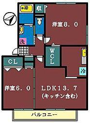 M3[202号室]の間取り