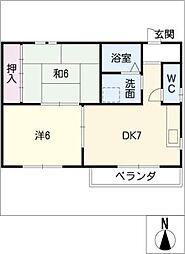 ハウス北屋敷[3階]の間取り