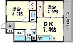 エトワール清水[1階]の間取り