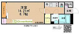小田急小田原線 座間駅 徒歩10分の賃貸アパート 1階1Kの間取り