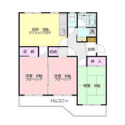 ウィンローレルマンション[1階]の間取り