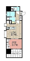 アクタス博多Vタワー 610号[610号室]の間取り