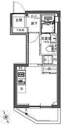東京メトロ有楽町線 江戸川橋駅 徒歩4分の賃貸マンション 1階ワンルームの間取り