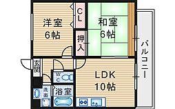 大阪府豊中市東泉丘1丁目の賃貸マンションの間取り