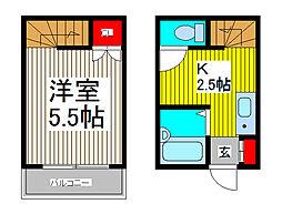 クレスト喜沢[2階]の間取り