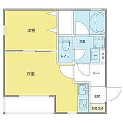 仮)中村本町マンション[1階]の間取り
