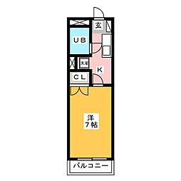 CASA・COMODO[3階]の間取り