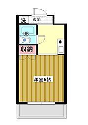 シンプルライフ桜口[2B号室]の間取り