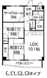 兵庫県尼崎市東園田町7丁目の賃貸アパートの間取り