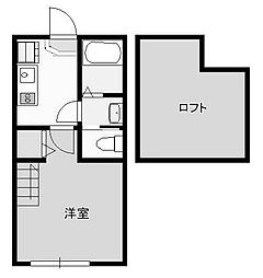 Vintia Tsurukawa 1階1Kの間取り