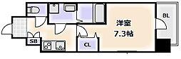 大阪府大阪市浪速区敷津東1丁目の賃貸マンションの間取り