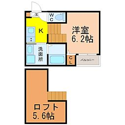 北区上飯田通デザイナーズ[1階]の間取り