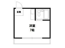 プチシャンブル紫野[2階]の間取り