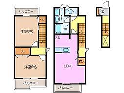 ドリーム・21 A棟[2階]の間取り