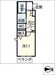 アトリエール 3階1Kの間取り