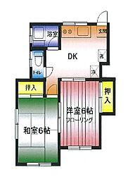 第2広田モンドハイツ[101号室]の間取り