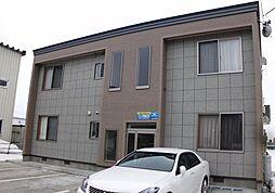 秋田県大仙市福田町の賃貸アパートの外観