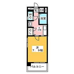 エンクレスト吉塚[7階]の間取り