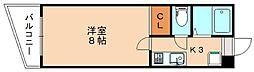 シミズアパートメント[1階]の間取り