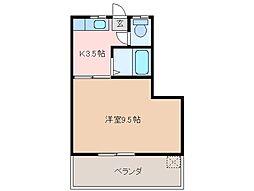 三重県松阪市大黒田町の賃貸マンションの間取り