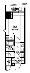 東京都品川区荏原3丁目の賃貸マンションの間取り