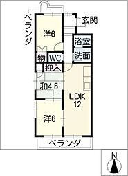 メゾンアリス[2階]の間取り