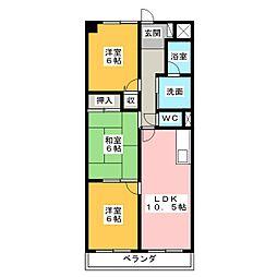 エミナンス葵[2階]の間取り