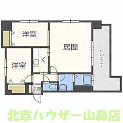 北海道札幌市中央区南十二条西1丁目の賃貸マンションの間取り