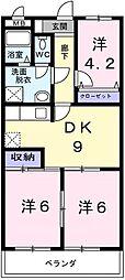 東京都羽村市羽西1丁目の賃貸マンションの間取り