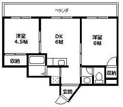 アブニール福島[5階]の間取り