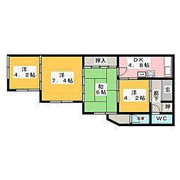 [一戸建] 岐阜県関市旭ケ丘2丁目 の賃貸【/】の間取り