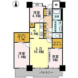 品川シーサイドビュータワーI[24階]の間取り