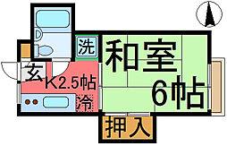 大野荘[202号室]の間取り