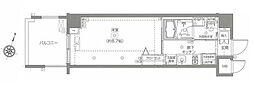 JR総武線 飯田橋駅 徒歩9分の賃貸マンション 2階1Kの間取り
