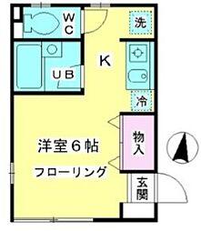 東京都西東京市南町3丁目の賃貸アパートの間取り