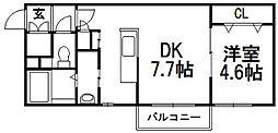 PLAZA M−7[406号室]の間取り