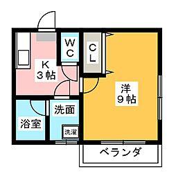 ソワサント木内II[1階]の間取り