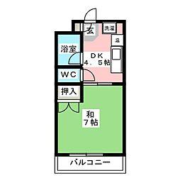 シャンテ八尋[2階]の間取り