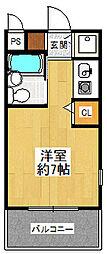 ロイヤルメゾン塚口8[201号室]の間取り