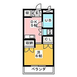 園山ハウス[1階]の間取り