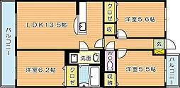 ダンディーホークスII[3階]の間取り