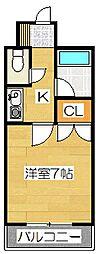 キャンパスシティ太宰府[418号室]の間取り
