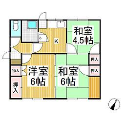 [一戸建] 長野県長野市上松 の賃貸【長野県 / 長野市】の間取り