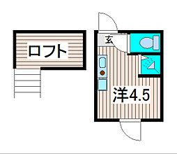 テラス南浦和[2階]の間取り