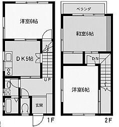 [テラスハウス] 神奈川県座間市広野台1丁目 の賃貸【神奈川県 / 座間市】の間取り